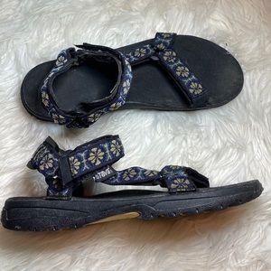 Teva Hurricane navy blue hiking outdoor sandals 11